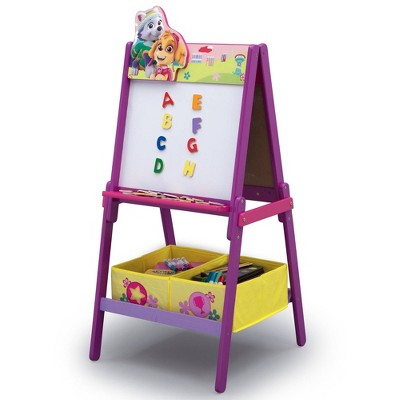 PAW Patrol Skye and Everest Wooden Double-Sided Easel with Storage - Delta Children