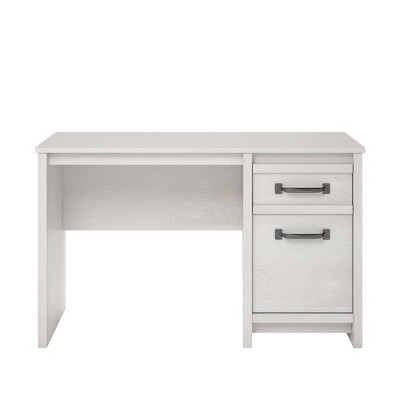 Aldeen Computer Desk Ivory Oak - Room & Joy