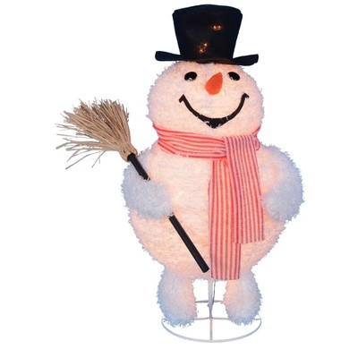 Northlight 30 Led Lighted Snowman In Top Hat Christmas Outdoor Decoration Target
