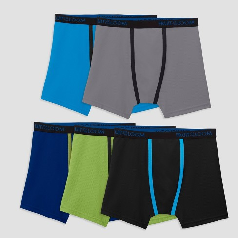 Fruit Of The Loom Boys 5pk Breathable Cotton Mesh Boxer Briefs