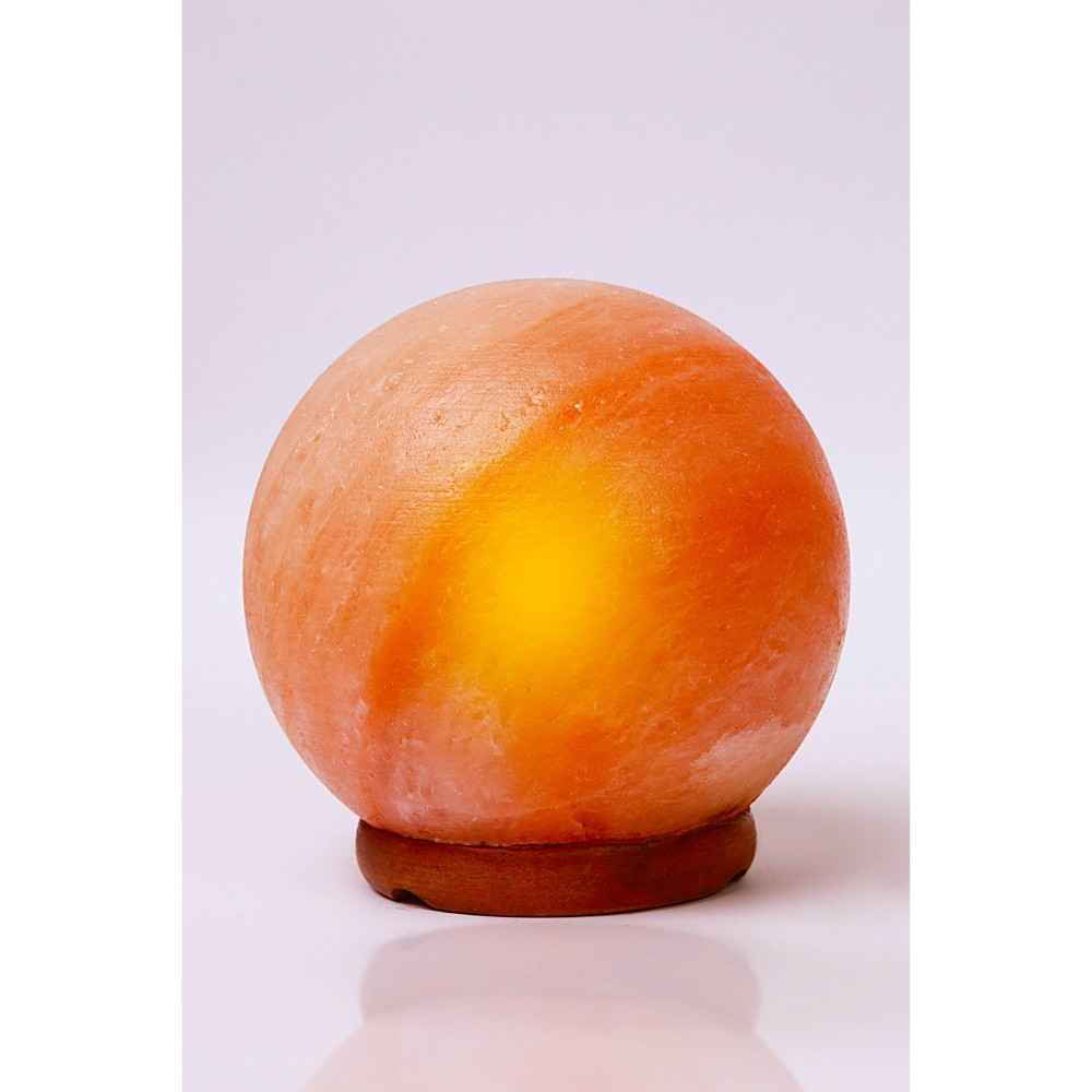 "Image of ""6"""" Globe Himalayan Salt Lamp Pink - Q&A Supply"""