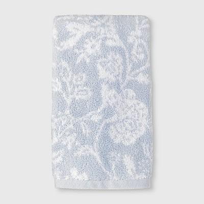 Performance Texture Hand Towel Light Blue Floral - Threshold™