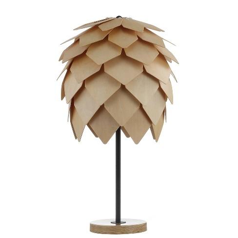 "20.5"" Simon Pinecone Wood/Metal LED Table Lamp Wood (Includes Energy Efficient Light Bulb) - JONATHAN Y - image 1 of 4"