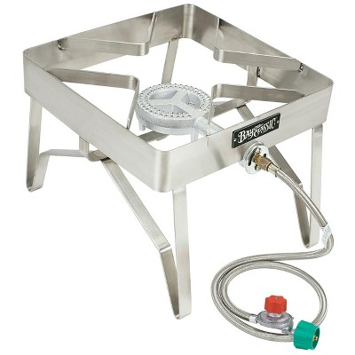 Bayou Classic  Stainless Steel Outdoor Patio Propane Stove With High Pressure Propane Gas Burner 1114