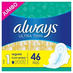 Always Ultra Thin Pads - Regular Absorbency - Size 1