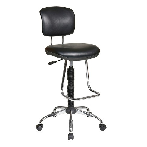 Ergo Drafting Chair Black - Office Star - image 1 of 4