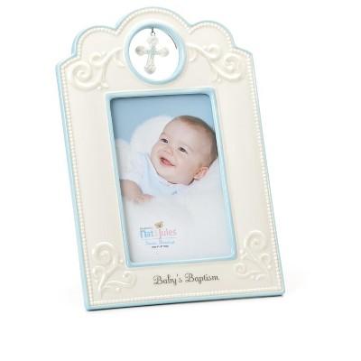 DEMDACO Blue Baby's Baptism Frame 6.75 x 9.75 - Multi