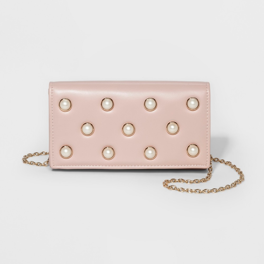 Women's Estee & Lilly Pearl Clutch - Blush, Size: Large