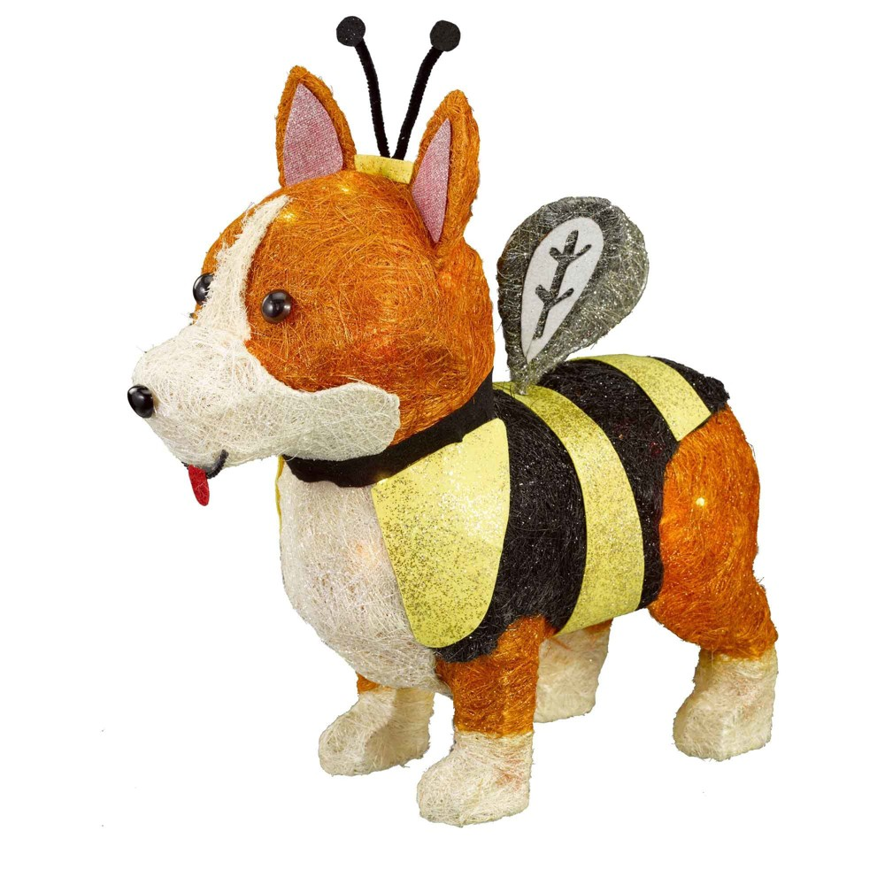 Halloween Incandescent Sisal Corgi Dog Clear - Hyde and Eek! Boutique, Brown