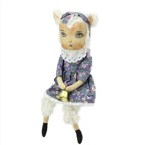 """Gallerie II 13"""" Sitting """"Lillibeth"""" the Lamb Girl Easter Spring Display Figure - image 1 of 1"""