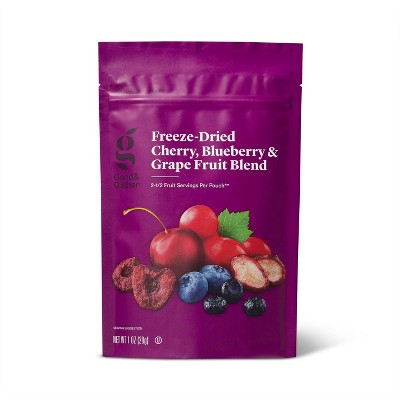 Cherry, Blueberry, & Grape Freeze Dried Fruit Blend - 1oz - Good & Gather™