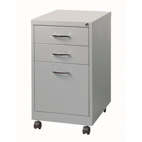 Swell Steel 3 Drawer Filing Cabinet In Platinum Gray Scranton Co Home Interior And Landscaping Analalmasignezvosmurscom
