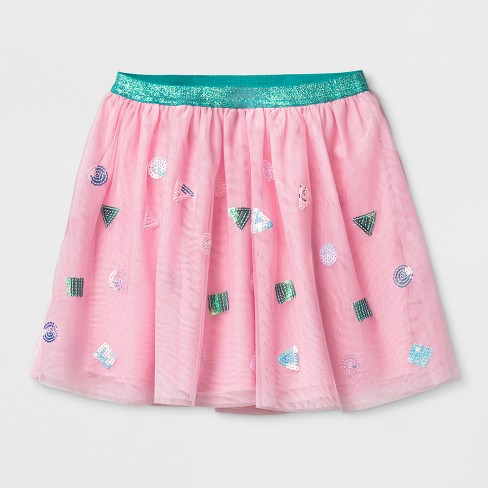 Girls' Birthday Sequin Skirt - Cat & Jack™ Pink - image 1 of 1