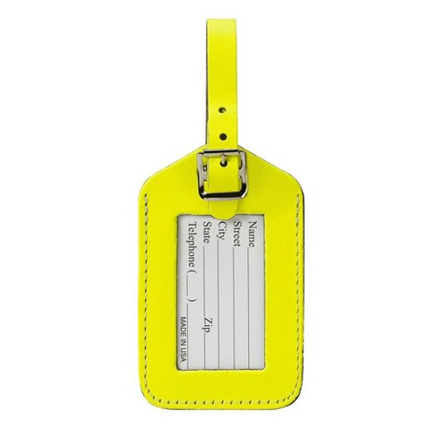 Lewis N. Clark Rectangular Neon Luggage Tag - image 1 of 1