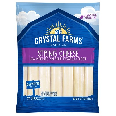 Crystal Farms Wisconsin String Cheese - 24ct