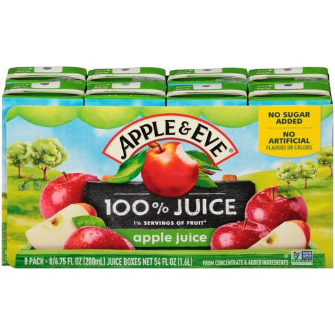 Apple & Eve 100% Juice Apple - 8pk/200mL Boxes : Target