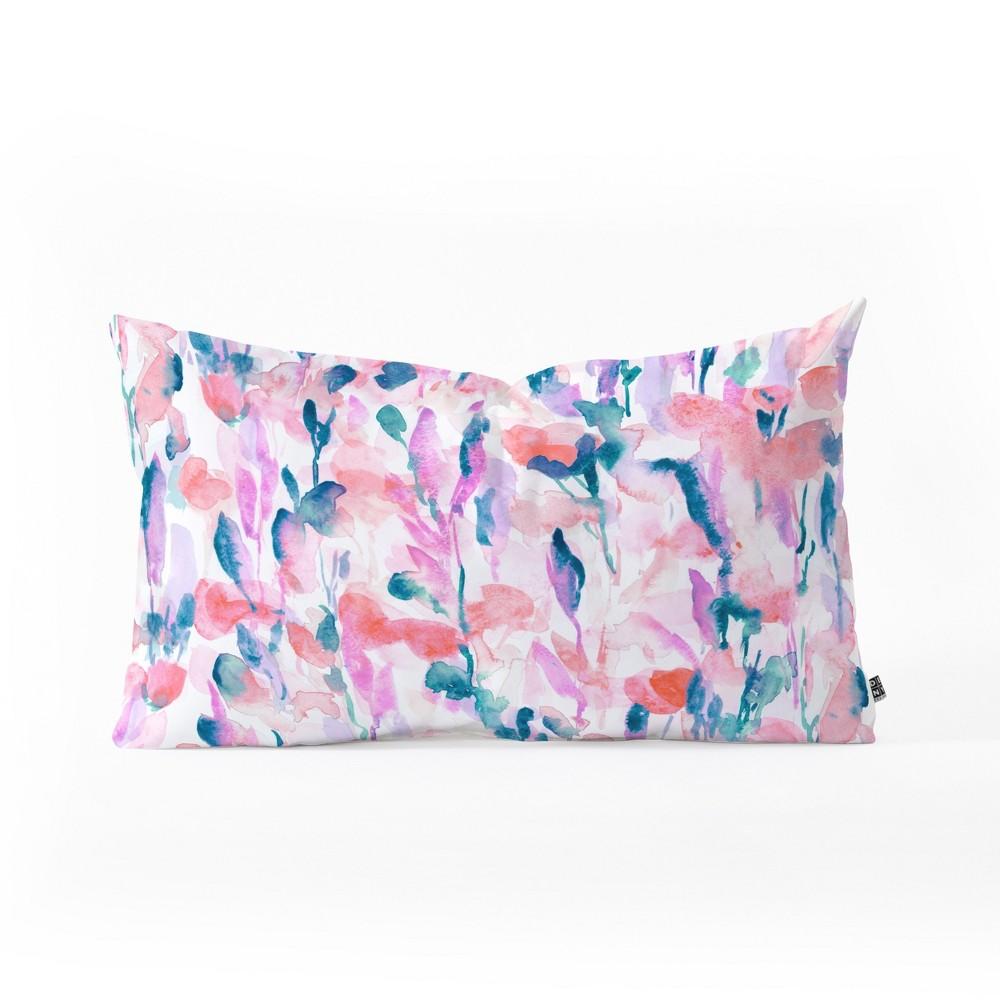 Jacqueline Maldonado Resolve Coral Lumbar Throw Pillow Pink - Deny Designs