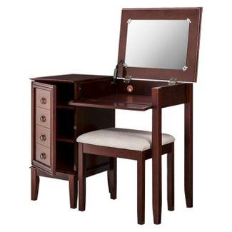 Side Storage Vanity Set Espresso - Linon