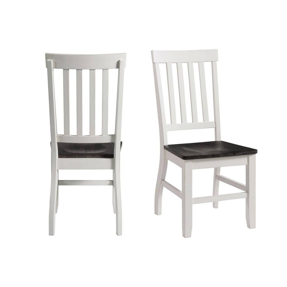 Image of 2pc Jamison Two Tone Side Chair Set White - Picket House Furnishings