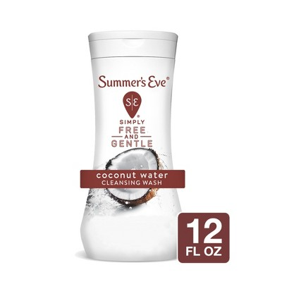 Summer's Eve Simply Free and Gentle Cleansing Wash -  Coconut Water - 12 fl oz