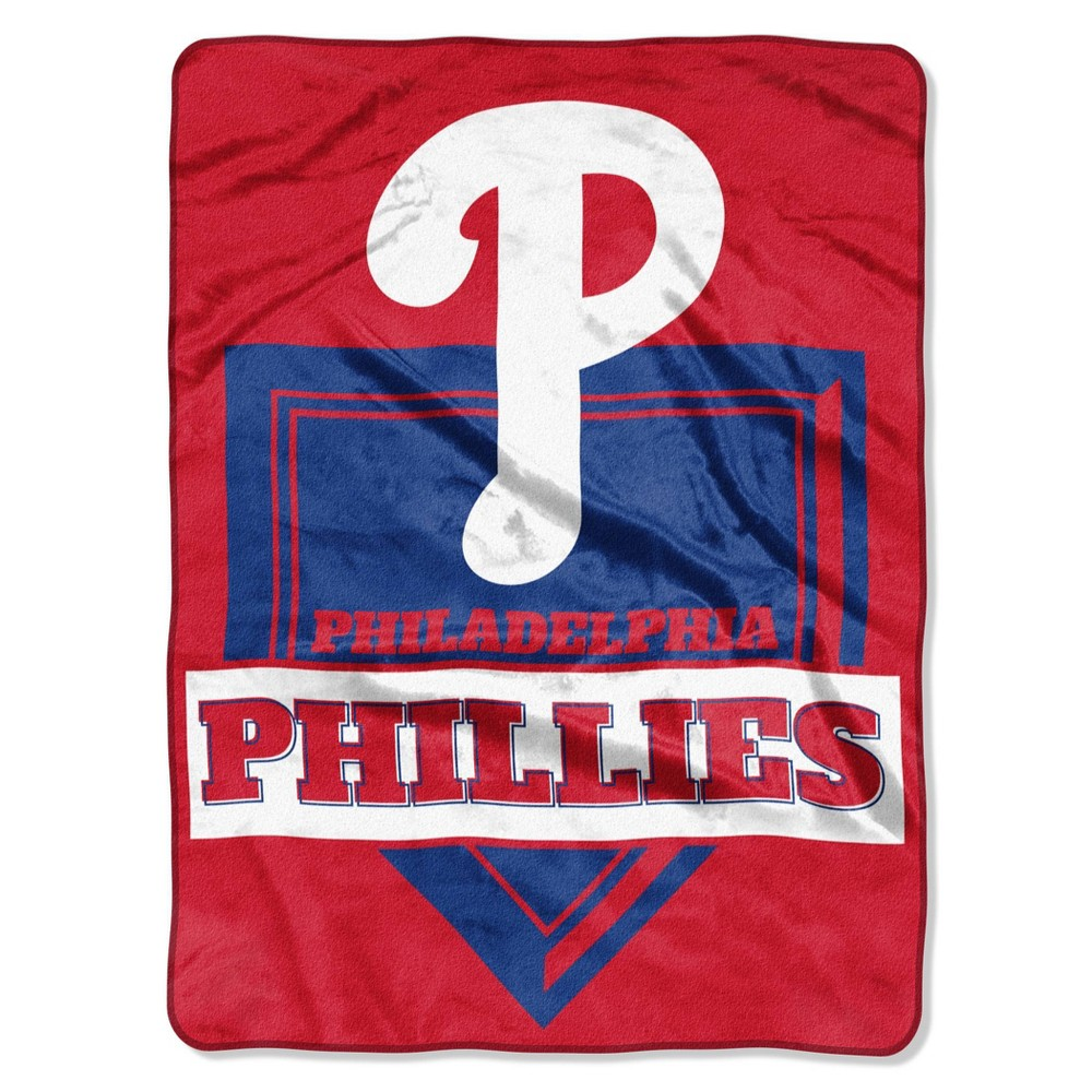 Mlb Philadelphia Phillies Home Plate Raschel Throw Blanket