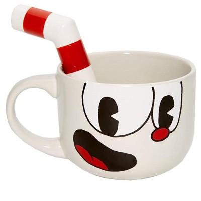 Just Funky Cuphead 20oz Ceramic Molded Mug, Cuphead