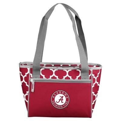 NCAA Alabama Crimson Tide Logo Brands Quatrefoil 16 Can Cooler Tote
