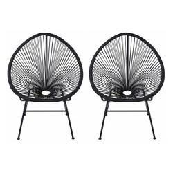2pk Oval Metal Outdoor Lounge Chair - Nuu Garden