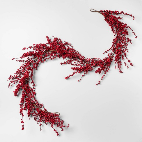 """72"""" x 6.5"""" Artificial Mistletoe Berries Garland Red - Threshold™ - image 1 of 2"""