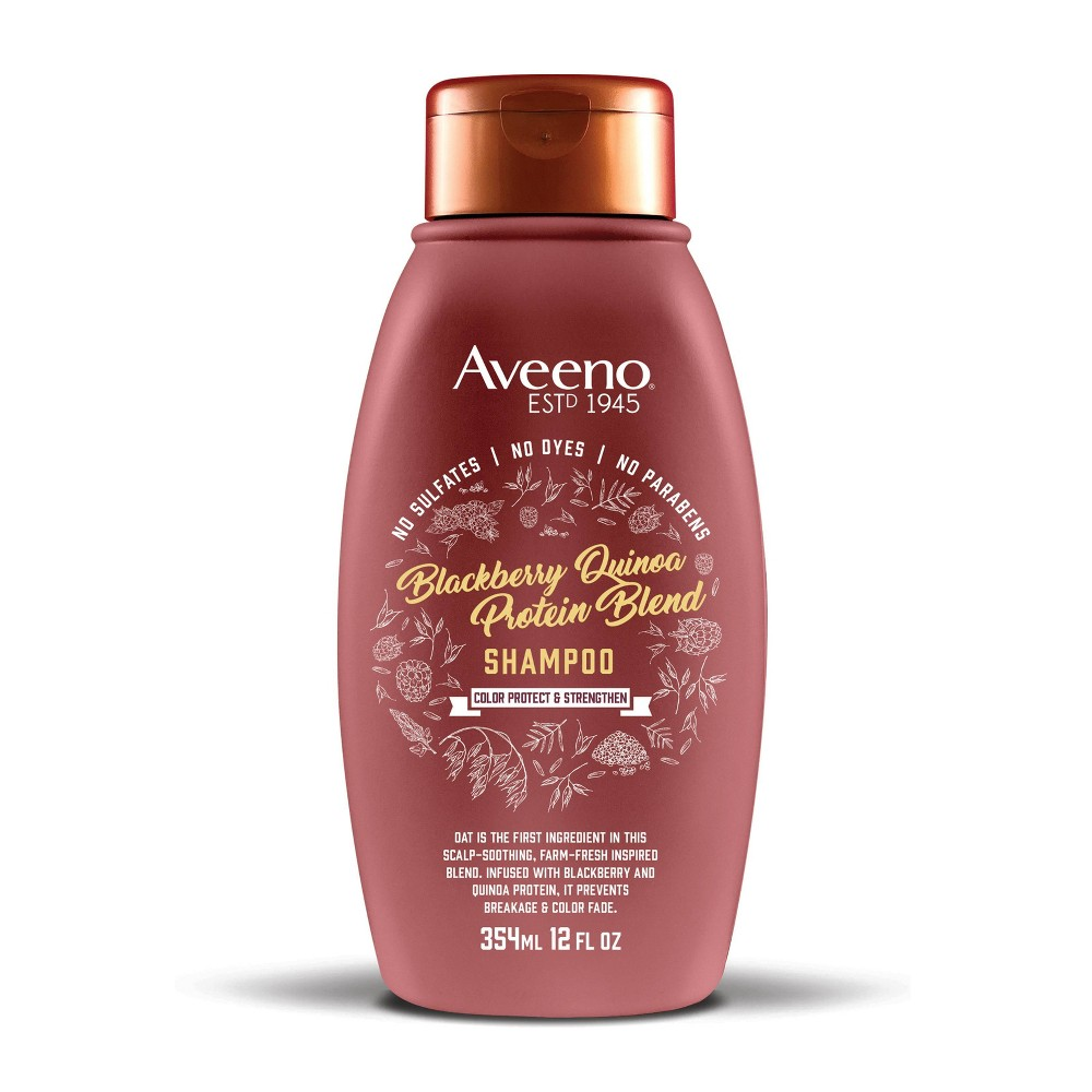 Image of Aveeno Blackberry Quinoa Protein Blend Shampoo - 12 fl oz