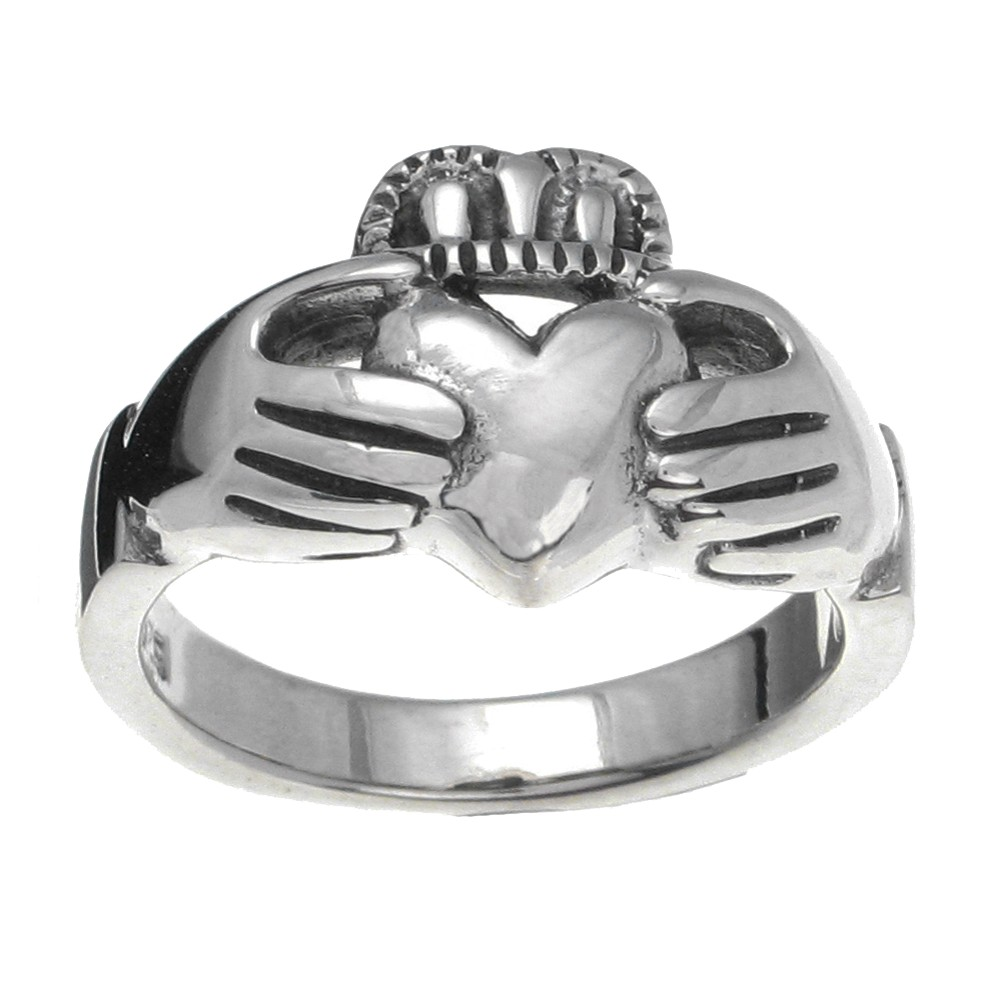 Sterling Silver Claddagh Ring - 11.0