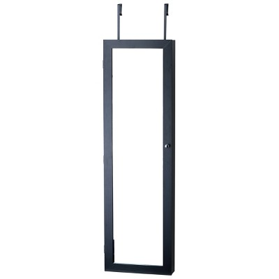 Mirrored Jewelry Armoire Black - FirsTime