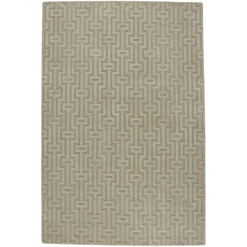 5 X8 Rectangle Wool Area Rug Brown Capel Target