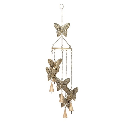 "28""H Iron Wind Chime - Brass - Olivia & May - image 1 of 2"