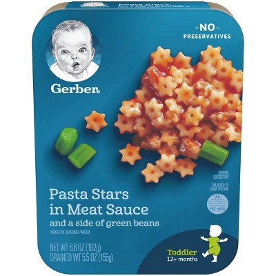 Gerber Lil' Entrees Pasta Stars in Meat Sauce with Green Beans - 6.8oz