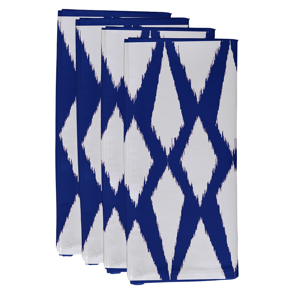 "Image of ""Dazzling Blue Geometric Throw Napkin Set (19""""X19"""") - E By Design"""