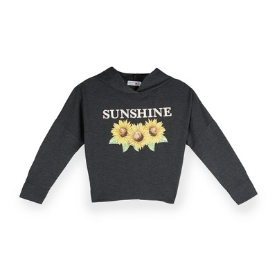"Beautees Girls' ""Sunshine"", Cinched Back, Long Sleeve Hoodie"