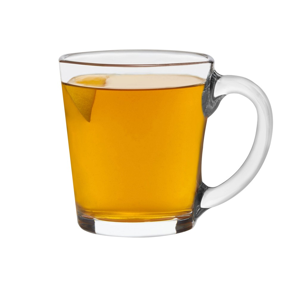 Libbey Glass Mugs 13.5oz - Set of 12, Clear