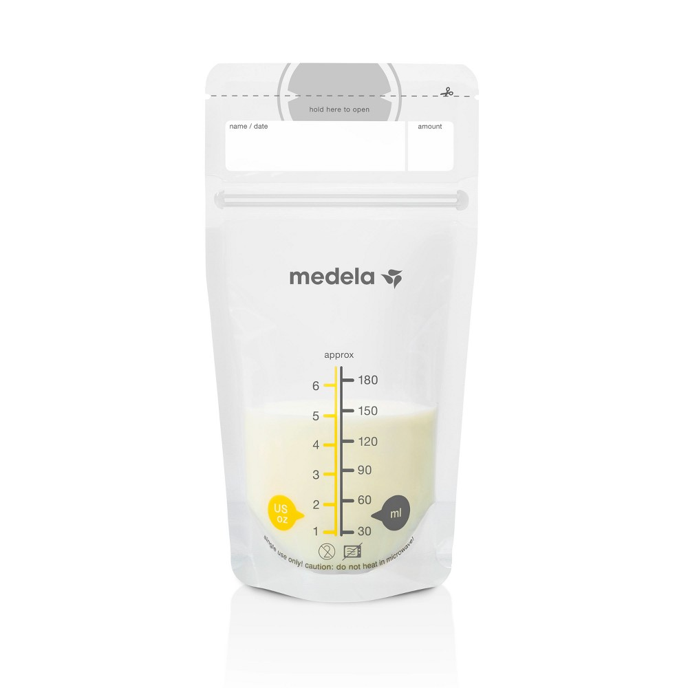 Medela Breast Milk Storage Bags 6oz/180ml - 25ct, Clear