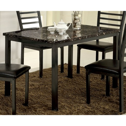 IoHomes Faux Marble Top 48 Dining Table Wood Black Target