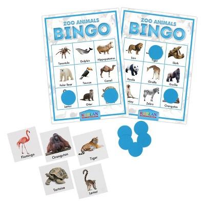 Kaplan Early Learning Company Zoo Animals Bingo