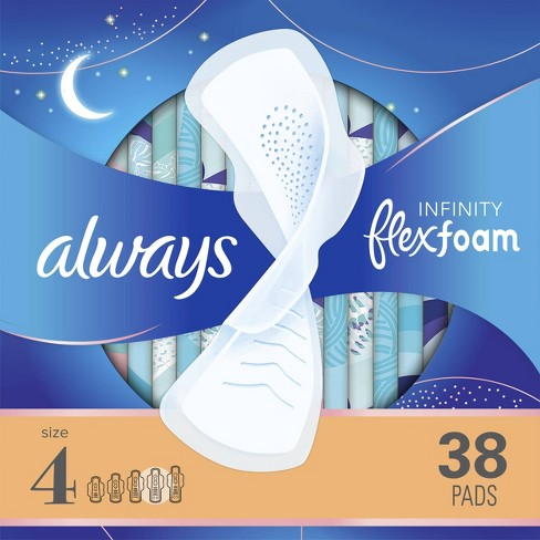 Always Infinity Overnight Sanitary Pads with Wings - image 1 of 4