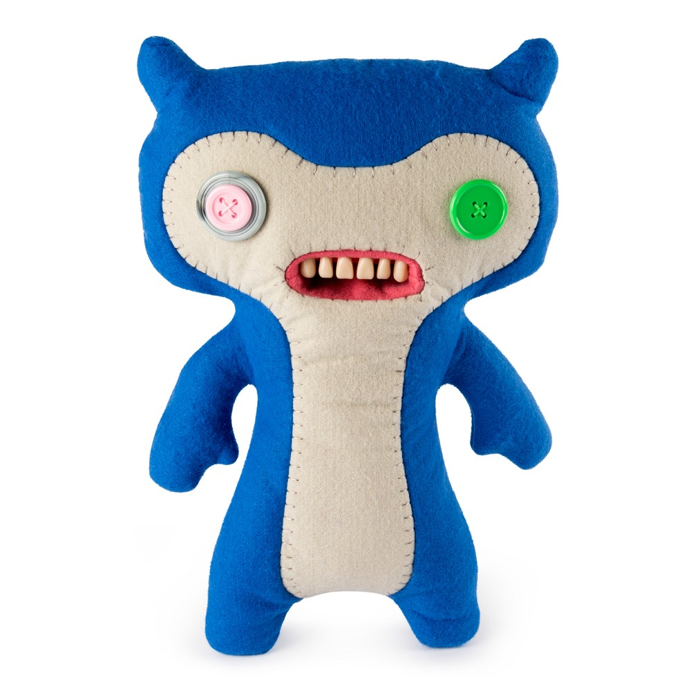 "Image of ""Fuggler Funny Ugly Monster 12"""" Lil' Demon Deluxe Plush Creature with Teeth - Blue"""