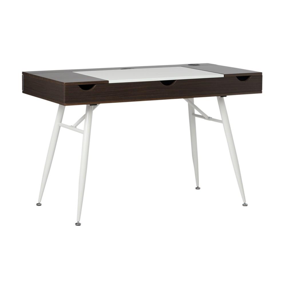 Image of Nook Office Desk Dark Walnut - Calico Designs