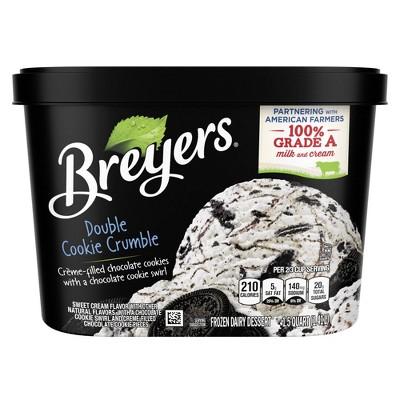 Double Cookie Crumble Ice Cream Frozen Dairy Dessert - 48oz - Breyers