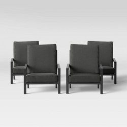 Asti Adirondack 4pk Low Profile Patio Chair - Charcoal - Project 62™
