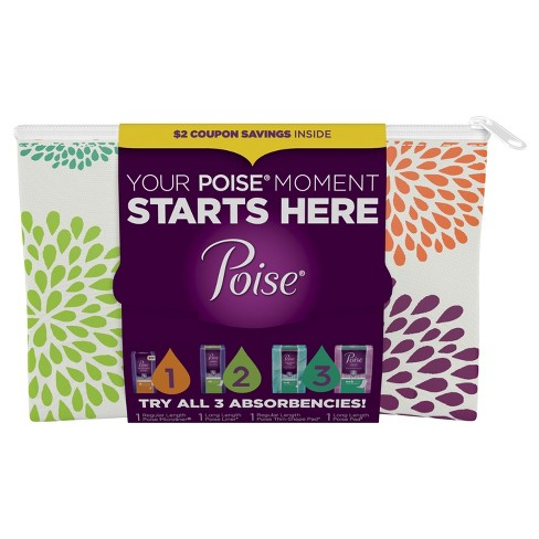 Poise Incontinence Pads Multi Trial Pack 4ct - image 1 of 1