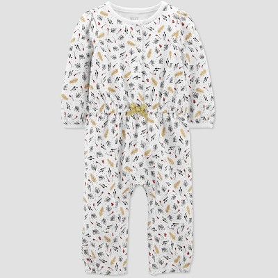 Baby Girls' Floral Rompers - Just One You® made by carter's Ivory Newborn