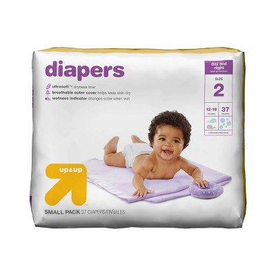 Diapers Small Pack Size 2 - 37ct - Up&Up™