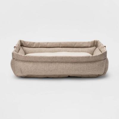 Rectangular Roll Cuff Dog Bed - L - Boots & Barkley™